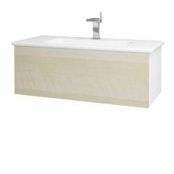 Dřevojas - Koupelnová skříň VARIANTE SZZ 100 (umyvadlo Euphoria) - N01 Bílá lesk / D02 Bříza (160463)