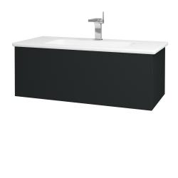 Dřevojas - Koupelnová skříň VARIANTE SZZ 100 (umyvadlo Euphoria) - L03 Antracit vysoký lesk / L03 Antracit vysoký lesk (160432)