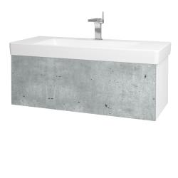 Dřevojas - Koupelnová skříň VARIANTE SZZ 105 - N01 Bílá lesk / D01 Beton (164362)