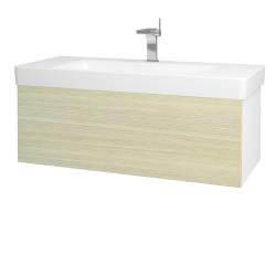 Dřevojas - Koupelnová skříň VARIANTE SZZ 105 - N01 Bílá lesk / D04 Dub (164393)