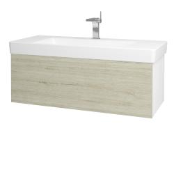 Dřevojas - Koupelnová skříň VARIANTE SZZ 105 - N01 Bílá lesk / D05 Oregon (164409)
