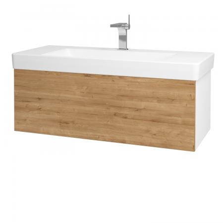 Dřevojas - Koupelnová skříň VARIANTE SZZ 105 - N01 Bílá lesk / D09 Arlington (164430)