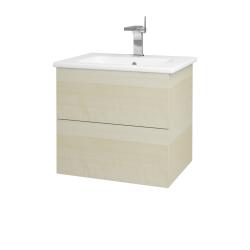 Dřevojas - Koupelnová skříň VARIANTE SZZ2 60 (umyvadlo Euphoria) - D02 Bříza / D02 Bříza (159511)
