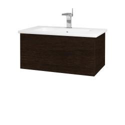 Dřevojas - Koupelnová skříň VARIANTE SZZ 80 (umyvadlo Euphoria) - D08 Wenge / D08 Wenge (159849)