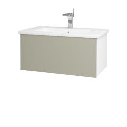 Dřevojas - Koupelnová skříň VARIANTE SZZ 80 (umyvadlo Euphoria) - N01 Bílá lesk / L04 Béžová vysoký lesk (160005)