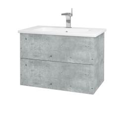 Dřevojas - Koupelnová skříň VARIANTE SZZ2 80 (umyvadlo Euphoria) - D01 Beton / D01 Beton (160036)