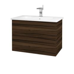 Dřevojas - Koupelnová skříň VARIANTE SZZ2 80 (umyvadlo Euphoria) - D06 Ořech / D06 Ořech (160081)