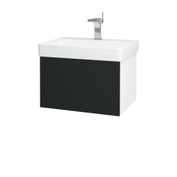 Dřevojas - Koupelnová skříň VARIANTE SZZ 60 - N01 Bílá lesk / L03 Antracit vysoký lesk (162801)