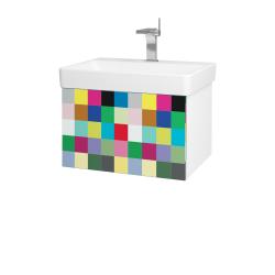 Dřevojas - Koupelnová skříň VARIANTE SZZ 60 - N01 Bílá lesk / IND Individual (162788)