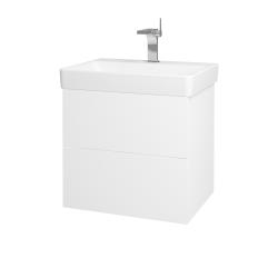 Dřevojas - Koupelnová skříň VARIANTE SZZ2 60 - N01 Bílá lesk / L01 Bílá vysoký lesk (163075)