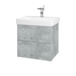 Dřevojas - Koupelnová skříň VARIANTE SZZ2 60 - D01 Beton / D01 Beton (162856)
