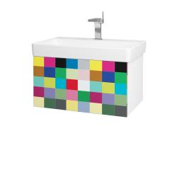 Dřevojas - Koupelnová skříň VARIANTE SZZ 70 - N01 Bílá lesk / IND Individual (163341)
