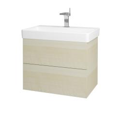 Dřevojas - Koupelnová skříň VARIANTE SZZ2 70 - D02 Bříza / D02 Bříza (163426)
