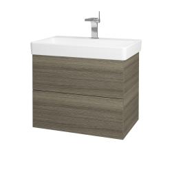 Dřevojas - Koupelnová skříň VARIANTE SZZ2 70 - D03 Cafe / D03 Cafe (163433)