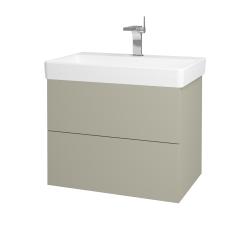 Dřevojas - Koupelnová skříň VARIANTE SZZ2 70 - L04 Béžová vysoký lesk / L04 Béžová vysoký lesk (163525)
