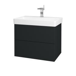 Dřevojas - Koupelnová skříň VARIANTE SZZ2 70 - L03 Antracit vysoký lesk / L03 Antracit vysoký lesk (163518)