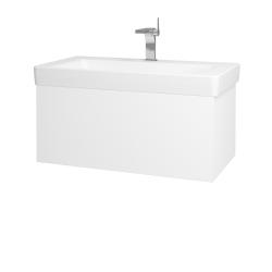 Dřevojas - Koupelnová skříň VARIANTE SZZ 85 - N01 Bílá lesk / L01 Bílá vysoký lesk (163914)