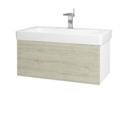 Dřevojas - Koupelnová skříň VARIANTE SZZ 85 - N01 Bílá lesk / D05 Oregon (163846)