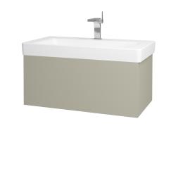 Dřevojas - Koupelnová skříň VARIANTE SZZ 85 - L04 Béžová vysoký lesk / L04 Béžová vysoký lesk (163792)