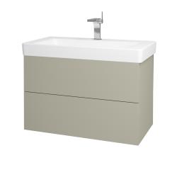 Dřevojas - Koupelnová skříň VARIANTE SZZ2 85 - L04 Béžová vysoký lesk / L04 Béžová vysoký lesk (164072)