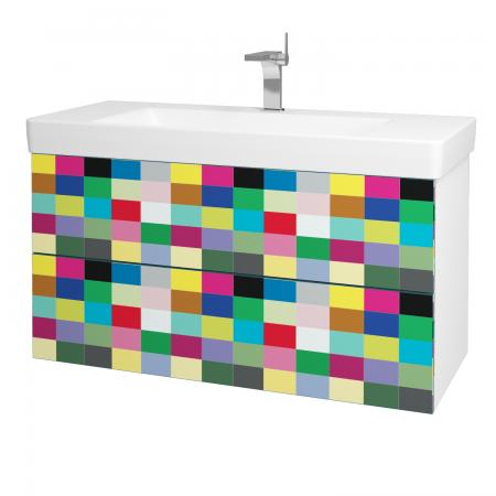 Dřevojas - Koupelnová skříň VARIANTE SZZ2 105 - N01 Bílá lesk / IND Individual (164720)