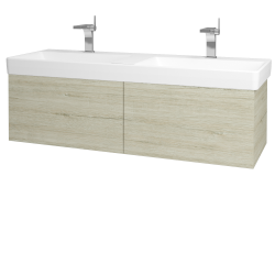 Dřevojas - Koupelnová skříň VARIANTE SZZ2 130 - D05 Oregon / D05 Oregon (164836)