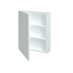 Dřevojas - Jednodveřová galerka Q GA 60 - N01 Bílá lesk / Levé (29015)