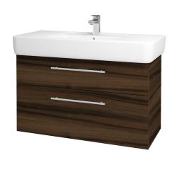 Dřevojas - Koupelnová skříň Q MAX SZZ2 100 - D06 Ořech / Úchytka T02 / D06 Ořech (132057B)