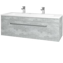 Dřevojas - Koupelnová skříň ASTON SZZ 120 - D01 Beton / Úchytka T01 / D01 Beton (131449AU)
