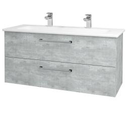 Dřevojas - Koupelnová skříň GIO SZZ2 120 - D01 Beton / Úchytka T03 / D01 Beton (130039CU)