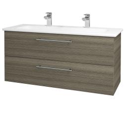 Dřevojas - Koupelnová skříň GIO SZZ2 120 - D03 Cafe / Úchytka T02 / D03 Cafe (130718BU)