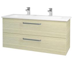 Dřevojas - Koupelnová skříň GIO SZZ2 120 - D04 Dub / Úchytka T01 / D04 Dub (130060AU)