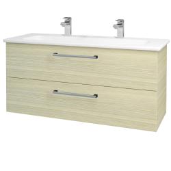Dřevojas - Koupelnová skříň GIO SZZ2 120 - D04 Dub / Úchytka T03 / D04 Dub (130060CU)