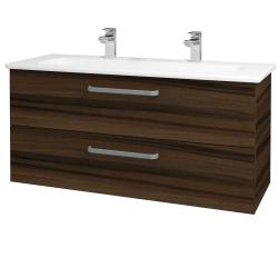 Dřevojas - Koupelnová skříň GIO SZZ2 120 - D06 Ořech / Úchytka T01 / D06 Ořech (130084AU)