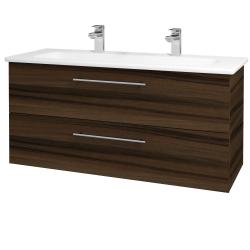 Dřevojas - Koupelnová skříň GIO SZZ2 120 - D06 Ořech / Úchytka T02 / D06 Ořech (130084BU)