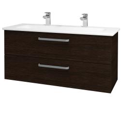 Dřevojas - Koupelnová skříň GIO SZZ2 120 - D08 Wenge / Úchytka T01 / D08 Wenge (130756AU)