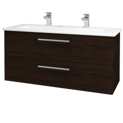 Dřevojas - Koupelnová skříň GIO SZZ2 120 - D08 Wenge / Úchytka T03 / D08 Wenge (130756CU)