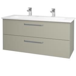 Dřevojas - Koupelnová skříň GIO SZZ2 120 - L04 Béžová vysoký lesk / Úchytka T01 / L04 Béžová vysoký lesk (130152AU)