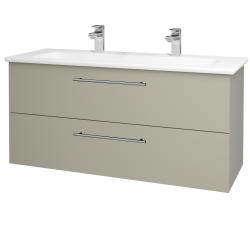 Dřevojas - Koupelnová skříň GIO SZZ2 120 - L04 Béžová vysoký lesk / Úchytka T02 / L04 Béžová vysoký lesk (130152BU)