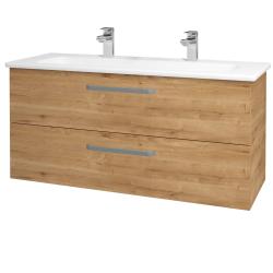 Dřevojas - Koupelnová skříň GIO SZZ2 120 - D09 Arlington / Úchytka T01 / D09 Arlington (130107AU)