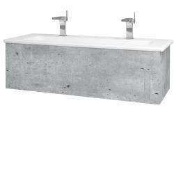 Dřevojas - Koupelnová skříň VARIANTE SZZ 120 (umyvadlo Euphoria) - D01 Beton / D01 Beton (160890U)