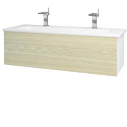 Dřevojas - Koupelnová skříň VARIANTE SZZ 120 (umyvadlo Euphoria) - N01 Bílá lesk / D04 Dub (161057U)