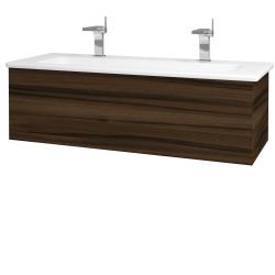 Dřevojas - Koupelnová skříň VARIANTE SZZ 120 (umyvadlo Euphoria) - D06 Ořech / D06 Ořech (160944U)