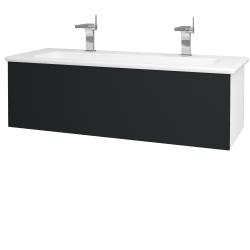 Dřevojas - Koupelnová skříň VARIANTE SZZ 120 (umyvadlo Euphoria) - N01 Bílá lesk / L03 Antracit vysoký lesk (161125U)