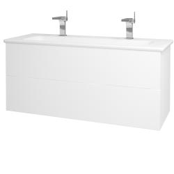 Dřevojas - Koupelnová skříň VARIANTE SZZ2 120 (umyvadlo Euphoria) - N01 Bílá lesk / L01 Bílá vysoký lesk (161392U)