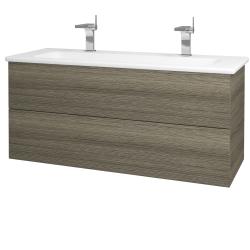 Dřevojas - Koupelnová skříň VARIANTE SZZ2 120 (umyvadlo Euphoria) - D03 Cafe / D03 Cafe (161194U)