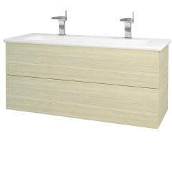 Dřevojas - Koupelnová skříň VARIANTE SZZ2 120 (umyvadlo Euphoria) - D04 Dub / D04 Dub (161200U)