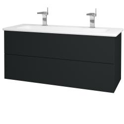 Dřevojas - Koupelnová skříň VARIANTE SZZ2 120 (umyvadlo Euphoria) - L03 Antracit vysoký lesk / L03 Antracit vysoký lesk (161279U)