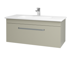 Dřevojas - Koupelnová skříň ASTON SZZ 100 - M05 Béžová mat / Úchytka T01 / M05 Béžová mat (199937A)