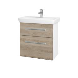 Dřevojas - Koupelnová skříň GO SZZ2 60 - N01 Bílá lesk / Úchytka T03 / D17 Colorado (204891C)